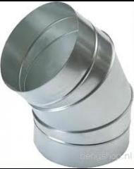 Spiralo gladde bocht Ø 250 mm 45°