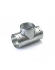 Spiralo geperst T-stuk 90° Ø 250 spruit Ø 100 mm