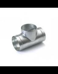 Spiralo geperst T-stuk 90° Ø 250 spruit Ø 125 mm