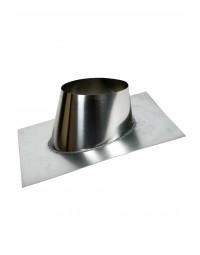 Kachelpijp DW ICS 25 RVS 100/150 Dakplaat hellend 5° - 30°