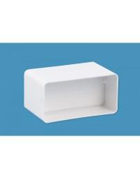 Kunststof ventilatiekanaal 110x54mm Buisverbinder met terugslagklep