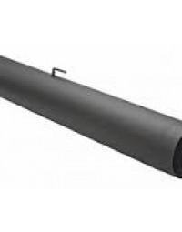 Kachelpijp Antraciet 2 mm Ø 150 mm Buis L = 1000 mm met klep