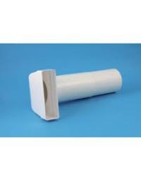 Kunststof ventilatiekanaal 110x54 mm Bochtstuk Ø 100 mm L=300-500mm
