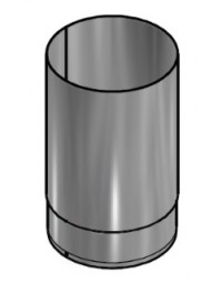 Kachelpijp Zwart RVS Ø 125 mm Pijp L=250mm