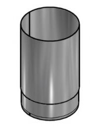 Kachelpijp Zwart RVS Ø 150 mm Pijp L=250mm