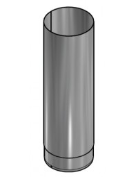 Kachelpijp Zwart RVS Ø 125 mm Pijp L=500mm