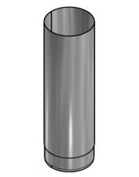 Kachelpijp Blank RVS Ø 125 mm Pijp L=500mm