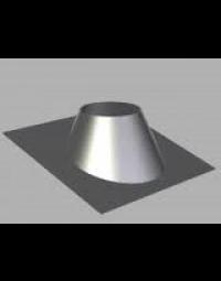 Kachelpijp Concentrisch US RVS/RVS 100/150 mm Dakplaat hellend dak 5°-30°