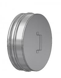 Kachelpijp ICS 25 RVS Deksel voor T-stuk 150/200