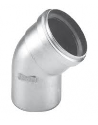 Dikwandig Aluminium Ø 80 mm Bocht 45°