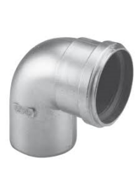 Dikwandig Aluminium Ø 100 mm Bocht 90°