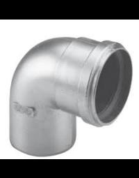 Dikwandig Aluminium Ø 80 mm Bocht 90°