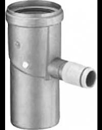 Dikwandig Aluminium Ø 100 mm Condensafvoer Horizontaal