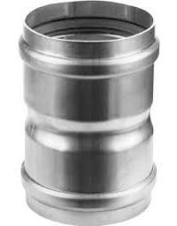 Dikwandig Aluminium Ø 80 mm Koppelstuk M/M