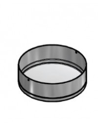 Kachelpijp Blank RVS Ø 125 mm Dop voor T-stuk