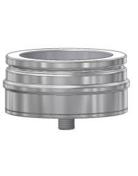 Kachelpijp DW ICS 25 RVS Dop met aftap 80/130