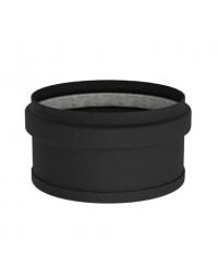 Kachelpijp Zwart emaille Ø 100 mm dichte dop met glasvezelring