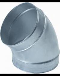 Ventilatiekanaal Spiralo gladde bocht 45°  Ø 80 mm