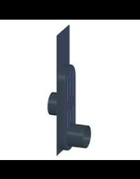 Kachelpijp Zwart  Haardaansluiting recht 111 mm