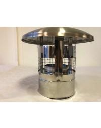 Kachelpijp DW ICS 25 RV 100/150 Trekkap met gaas