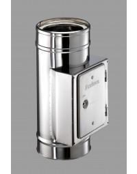 Kachelpijp DW ICS 25 RVS  Inspectie T stuk 80/130 90°