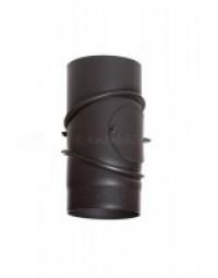 Kachelpijp Antraciet 2 mm Ø 150 mm Bocht verstelbaar met veegluik