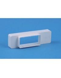 Kunststof ventilatiekanaal verloop 110x54mm > 204x60mm