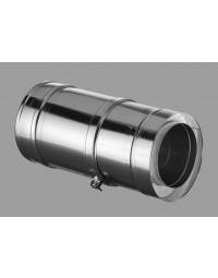 Kachelpijp DW ICS 25 RVS 80/130 Paspijp 375-585 mm