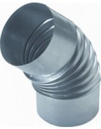 Ventilatiekanaal Spiralo plooibocht Ø 80 mm 45°