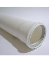 Rolux Kunststof PP R.G.afvoer Wit Ø 80mm Buis L=2000 mm