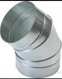 Spiralo segmentbocht 45°  Ø 400 mm
