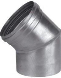Dikw. Aluminium Ø 110 mm segmentbocht 45°
