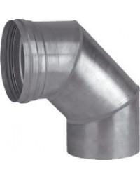 Dikw. aluminium Ø 110 mm segmentbocht 90°