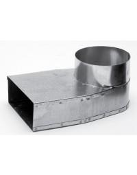 Instortkanaal 170/70 mm Lepe hoek Ø 125 mm symmetrisch