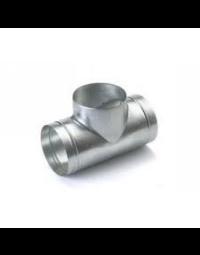 Spiralo geperst T-stuk 90° Ø 200 spruit Ø 100 mm