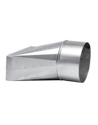 Instortkanaal 170/70 mm recht verloop 170/70 x  Ø 125 mm