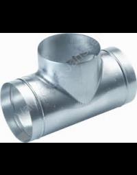 Ventilatiekanaal Spiralo geperst T-stuk 90° Ø 80 mm