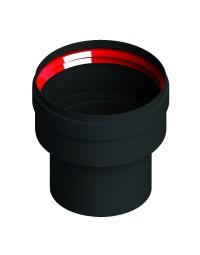 Zwart Living Pellet  vergr. Verloop Ø 80 - 100 mm