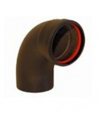 Zwart RVS Ø 100 mm bocht 90° + ring