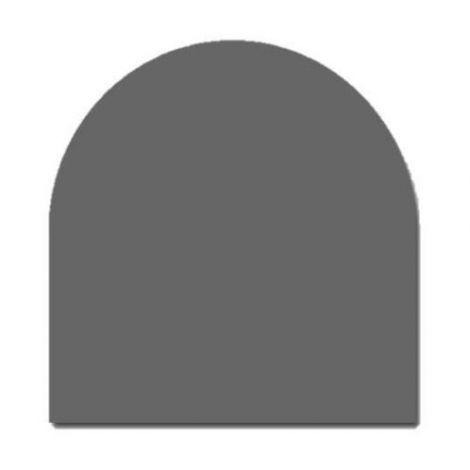 Vloerplaat Antraciet Half Rond 80 x 80 cm 2 mm dik