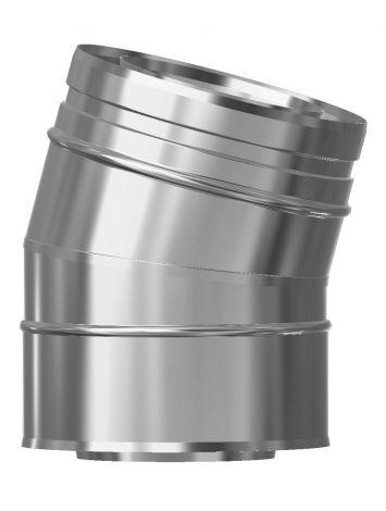 Concentrisch CFS RVS/RVS Ø 130/200 mm bocht 15°