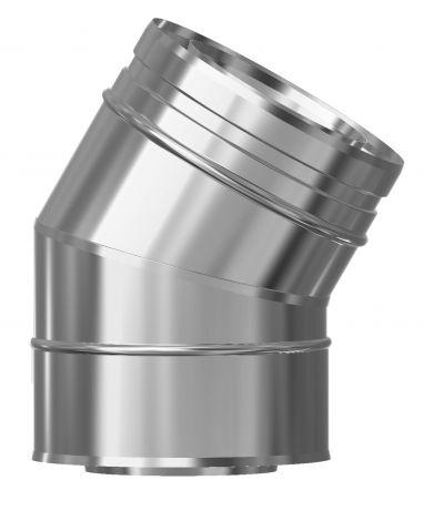 Concentrisch CFS RVS/RVS Ø 80/130 mm bocht 30°