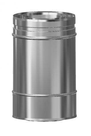 Concentrisch CFS RVS/RVS Ø 80/130 mm pijp L = 250 mm