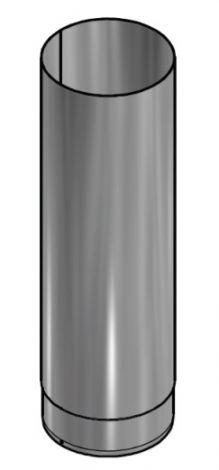 Kachelpijp Blank RVS Ø 125 mm Pijp L =  500 mm