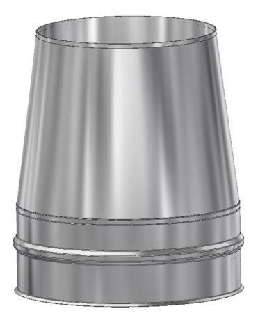 ICS 25 RVS Ø 100/150 mm Conische top