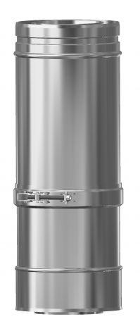 Concentrisch CFS RVS/RVS Ø 100/150 mm paspijp L = 375-585 mm