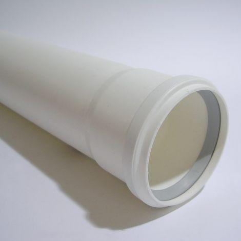 Rolux Kunststof PP R.G.afvoer Wit Ø 80mm Buis L=1000 mm