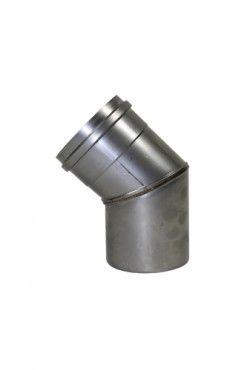 RVS blank Ø 100 mm bocht 45°