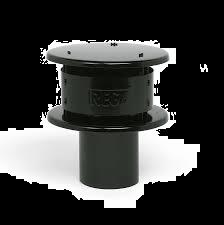 Aluminium tregakap zwart Ø 130 mm