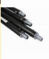 Flexibele veegstok met schoefdraad  L = 1200 mm Zwart